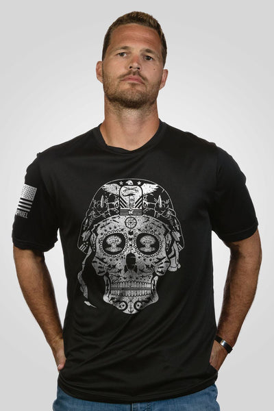 Men's Moisture Wicking T-Shirt - Sugar Skull