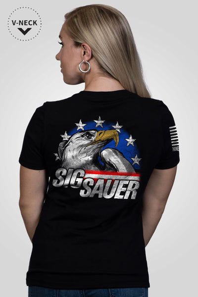 Relaxed Fit V-Neck Shirt - Sig Sauer Eagle