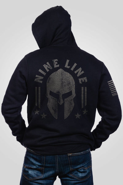 Men's Full-Zip Hoodie - Nine Line Spartan