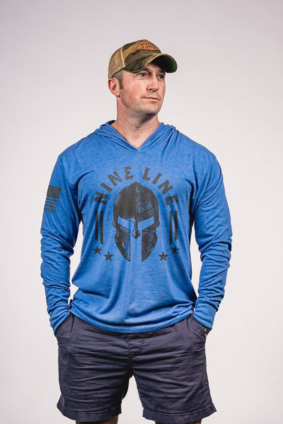 Unisex Long Sleeve Hooded Shirt - Nine Line Spartan