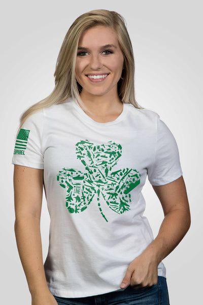 Women's Relaxed Fit T-Shirt - Nine Line Shamrock
