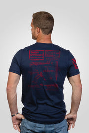 Men's T-Shirt - Super Shotgun Schematic