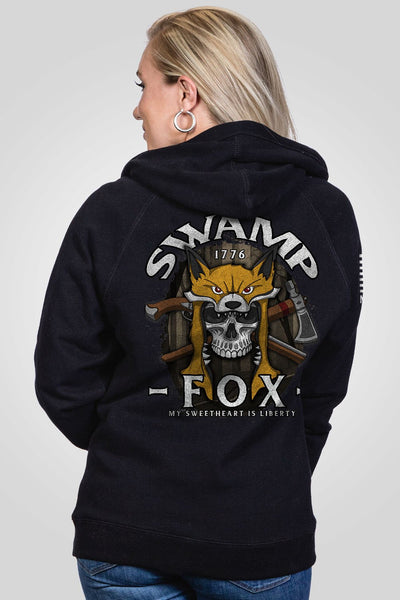 Women's V-Neck Hoodie - Swamp Fox
