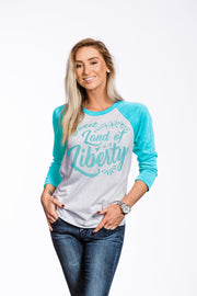 Women's Baseball Tees - Sweet Liberty