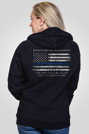 Women's V-Neck Hoodie - Thin Blue Line
