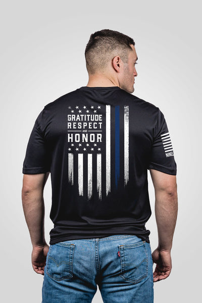 Men's Moisture Wicking T-Shirt - Gratitude Respect Honor [LTD]