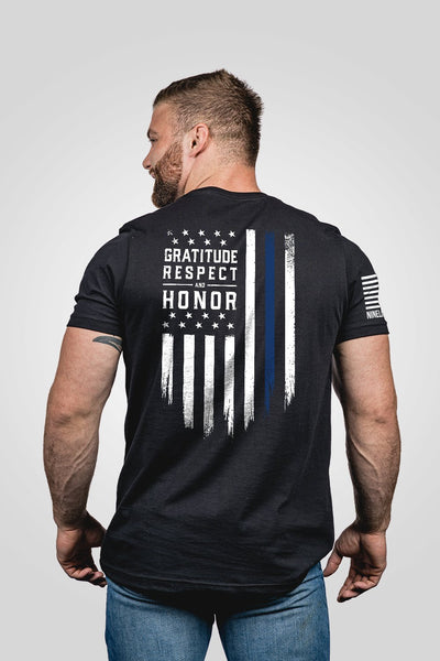 Men's T-Shirt - Gratitude Respect Honor [LTD]