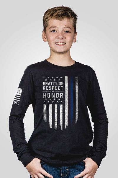 Youth Long Sleeve - Gratitude Respect Honor [LTD]