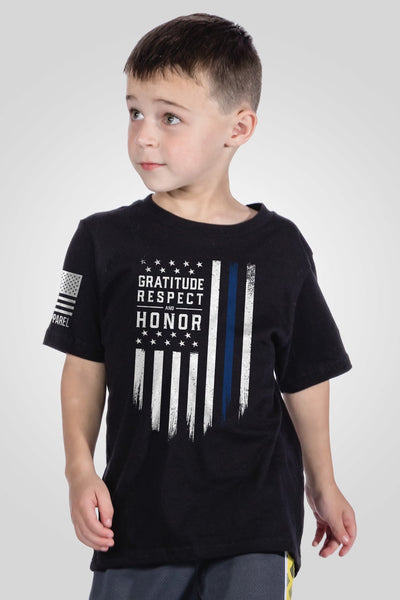 Youth T-Shirt - Gratitude Respect Honor [LTD]