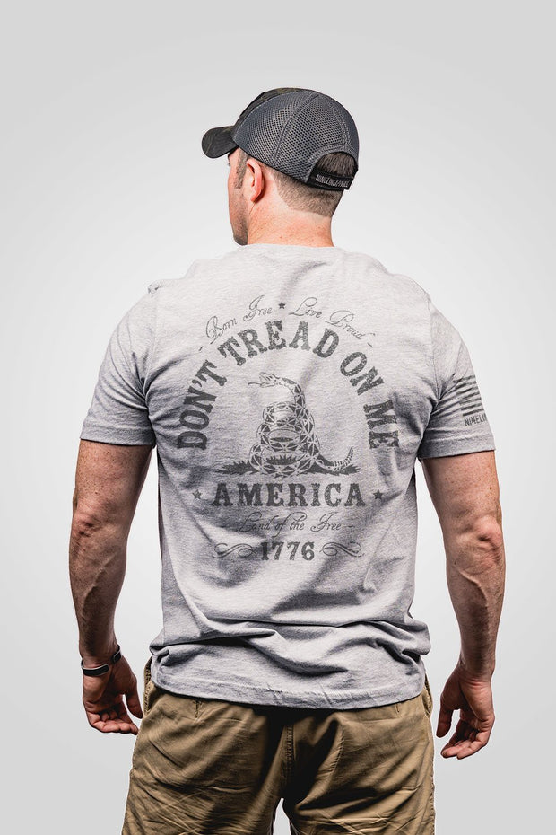 Men's don't trade on me grey seasonal color, rear view