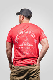 Men's don't trade on me seasonal red color, rear view