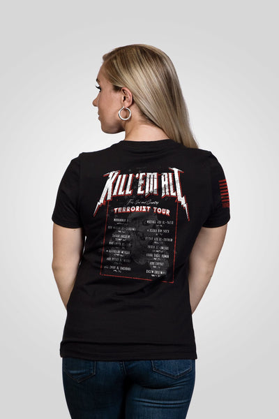 Women's Relaxed Fit V-Neck Shirt - Tig Kill 'Em All