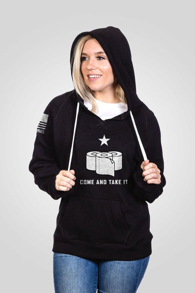 Women's V-Neck Hoodie - TP Come and Take It