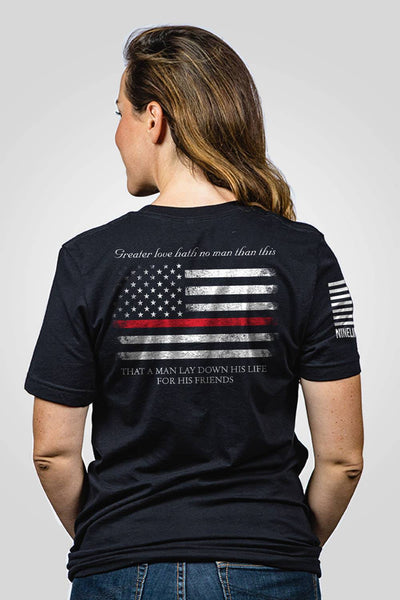 Boyfriend Fit T-Shirt - Thin Red Line