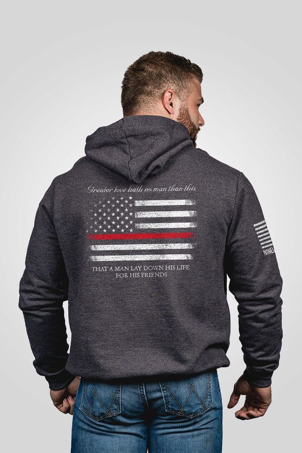 Hoodie - Thin Red Line