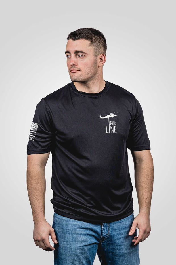 Men's Moisture Wicking T-Shirt - Thin Red Line