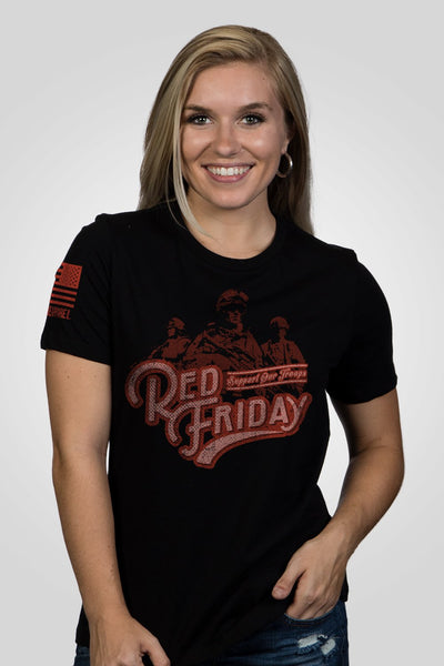 Women's Relaxed Fit T-Shirt - Vintage Red Friday