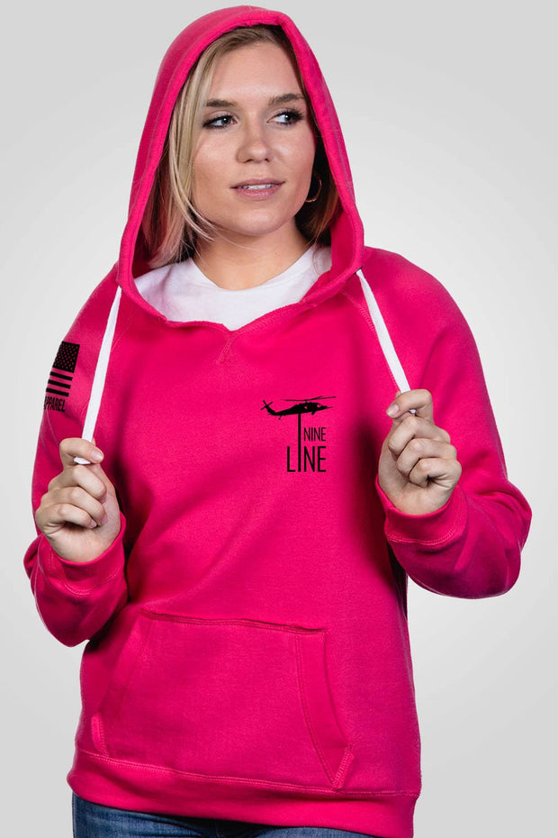 Women's V-Neck Hoodie - Warheads to Foreheads