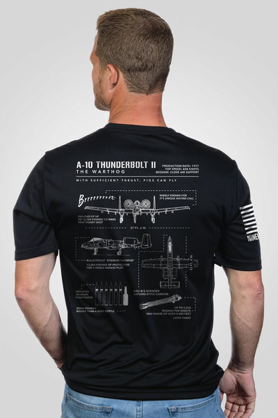 Men's Moisture Wicking T-Shirt - Warthog Schematic
