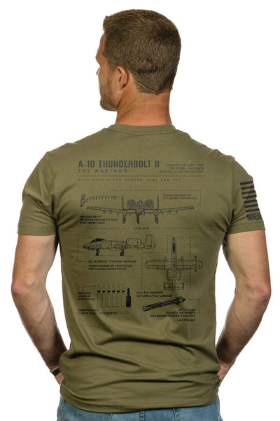 Men's T-Shirt - Warthog Schematic
