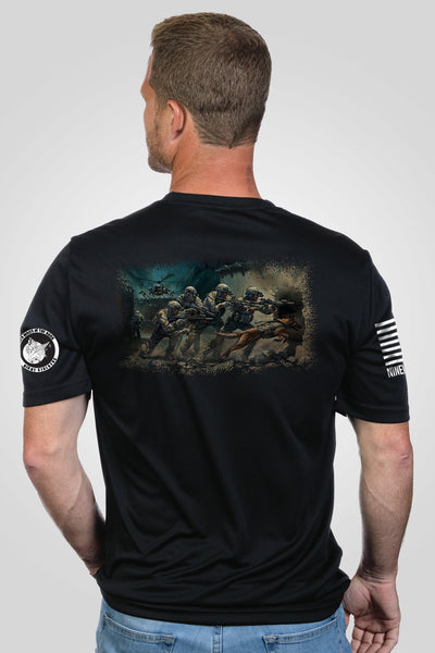 Men's Moisture Wicking T-Shirt - Wounded Ranger