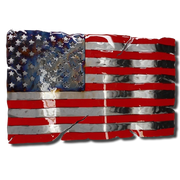 Molten Metal Sign - Stars and Stripes