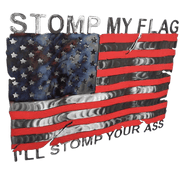 Molten Metal Sign - Stomp My Flag