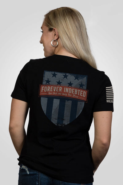 Women's Relaxed Fit T-Shirt – Forever Indebted [Patriots Club Exclusive]