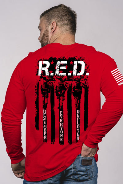 Clearance - Red Long Sleeve T-shirt