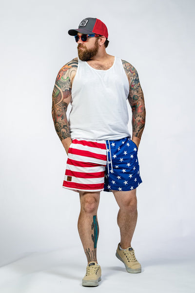 Swim Trunks - American Flag