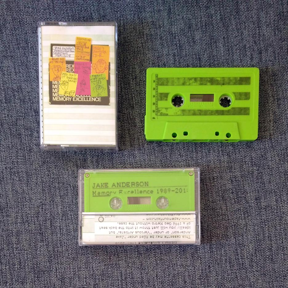 JAKE ANDERSON 'memory excellence: selections 1989 - 2018' cassette