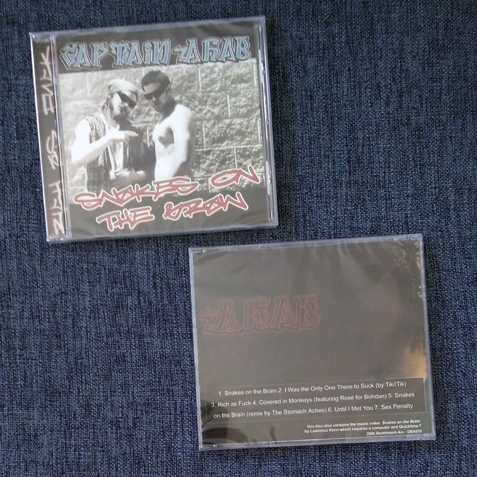 CAPTAIN AHAB 'snakes on the brain' cd