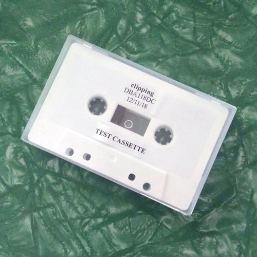 CLIPPING 'face' test cassette