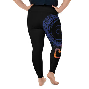 DEATHBOMB SUNSET plus-size leggings (black variant)