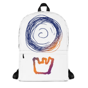 DEATHBOMB ARC sunset logo backpack