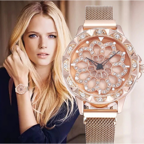 360Beautee™ Rotating Magnetic Flower Watch