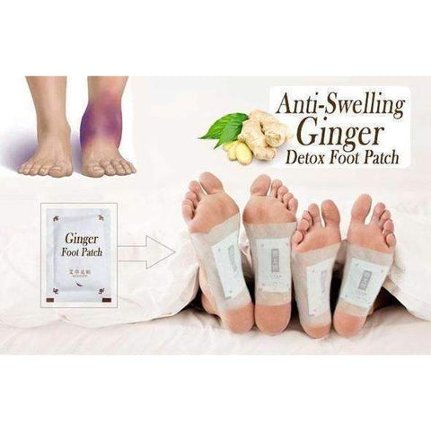 Image of Anti Swelling Ginger Foot Pads - 10Pcs