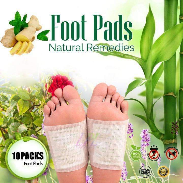 Anti Swelling Ginger Foot Pads - 10Pcs