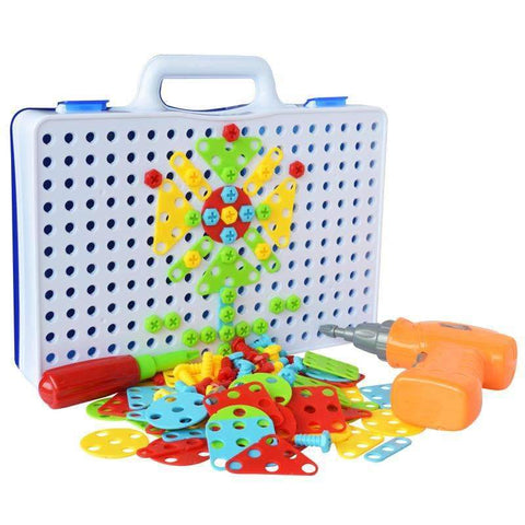 Image of ConstructionDrill™ - Kids Educational Drill Puzzle Toy