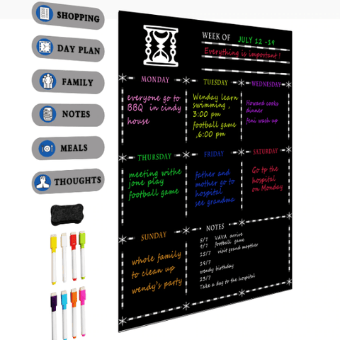Image of FridgePlanner™ Magnetic Dry-Erase Family Planner Board