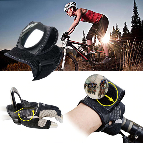 Image of FunRear™ - Cycling Gloves with a Mirror