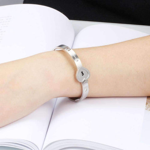 Image of Love Lock™ - Couple's Titanium bracelet and necklace