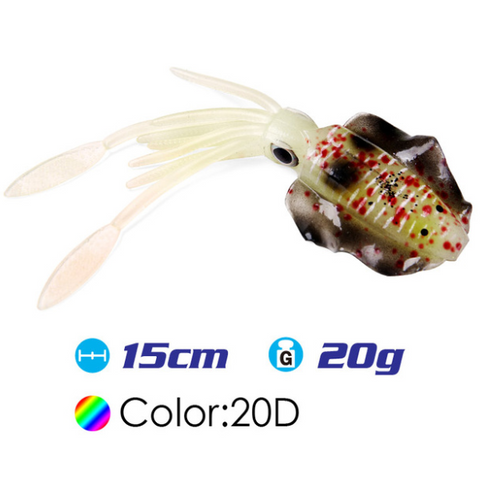Image of Lured™ - Soft Squid Fishing Lure