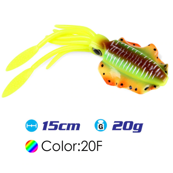 Lured™ - Soft Squid Fishing Lure