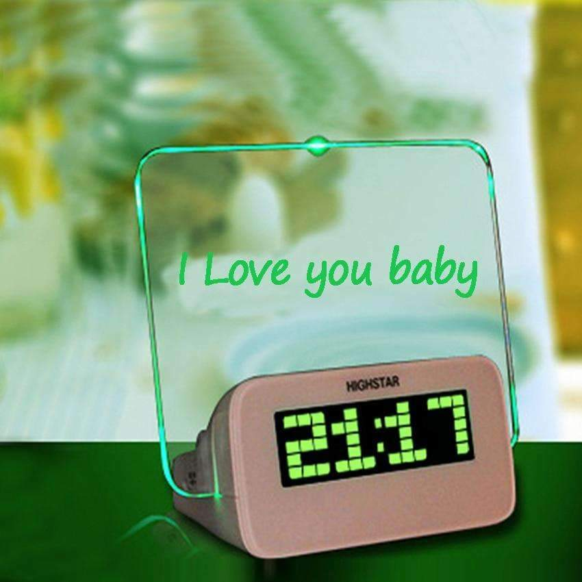 Multi-Function Scribble Memo Board Alarm Clock