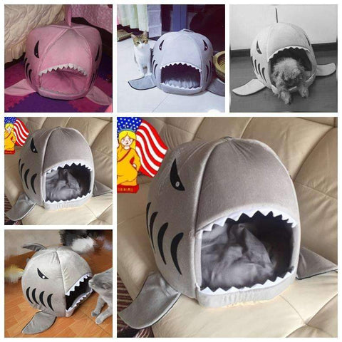 Overhang Shark Cat Bed