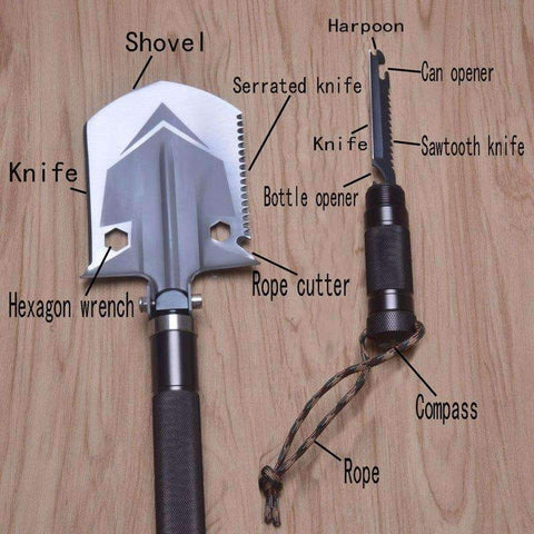 Image of Rathos™ - The Ultimate Survival Shovel (Multi-functional)