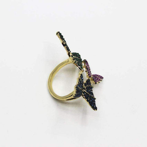 Image of Resting Crystal Butterfly Ring