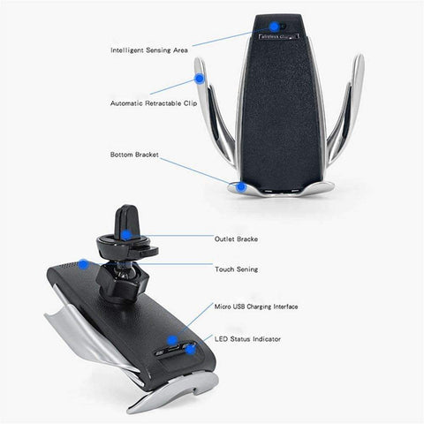 Image of Smart Sensor Wireless Charger Car Mount