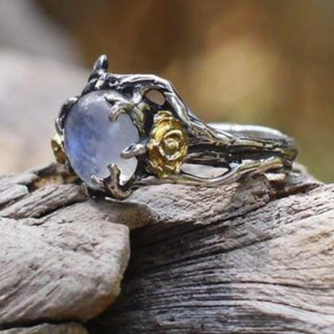 Image of Solitaire™ - Vintage Moonstone Ring